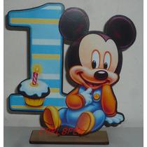 6 Centro De Mesa Mickey Bebe