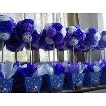 Topiarios Con Flores En Papel De Seda