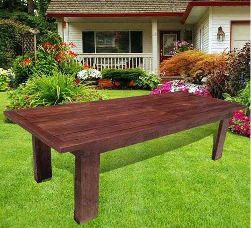 Mesa para Quincho de 200x100 de Eucaliptus Grandis