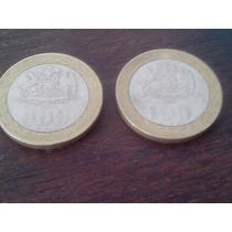 Lote 2 Monedas - 100 Pesos Chilenos