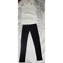 Combo Promo Musculosa Basica + Calza Negra Algodón $100!!!