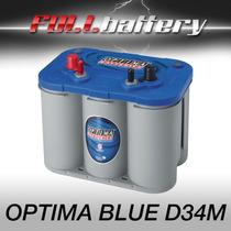 Bateria Optima Blue Mod D34m Náutica Ciclo Profundo