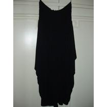 Vestido Negro Desiderata - Strapless - T. M - Corte Princesa