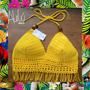Top Flecos Crochet Playa Bikini