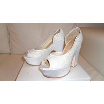 Zapatos Mujer Exclusivo Boda Talle 37 En Excelente Estado!