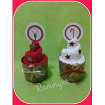 Regalo Navidad Cupcakes De Toalla P/ Regalar