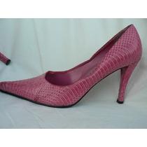 Zapato Clasico Stiletto Nº 37.5 Reptil 713enanitos