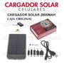 Cargador Solar Con Bateria Recargable 2600mah Para Celulares