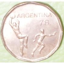 Moneda Argentina Mundial 78 20 Pesos Año 1978