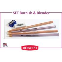 Pack 4 Lapices Burnish & Blender Barniz Y Clareador Derwent