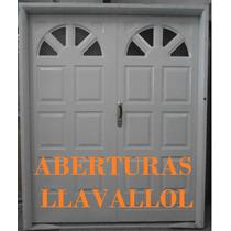 Porton 2 Hojas De Chapa Inyectada Reforzado 160x200 De Abrir