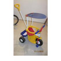 Triciclo Rondi 3510 Con Manija Y Techo Dia Del Niño Como New