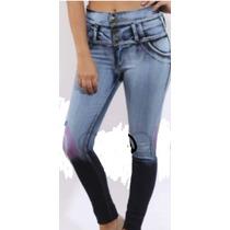 Jeans Chupin Elastizados Tiro Alto 2016 T 36 Al 54 $ 640