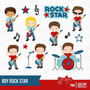 Kit Imprimible Rock Stars 2 Imagenes Clipart