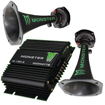 Combo Potencia Monster M150.2 + 2 Drivers Monster! Pa Electr
