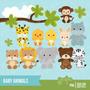 Kit Imprimible Animalitos Bebes 2 Imagenes Clipart