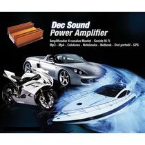 Amplificador Potencia 45x4 Para Mp3 Celular Para Auto Moto