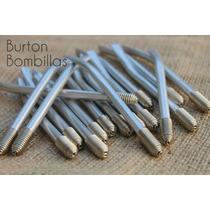 Bombillas Aluminio Pulido Resorte Niquelado Oferton!