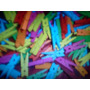 Mini Broches De Madera O Multicolores