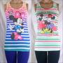 Musculosa Retro Mickey Y Sus Amigos Gama De Colores Super!