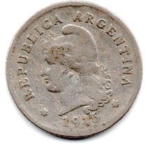 Moneda Argentina Antigua 10 Ctvs.1915.muy Buena