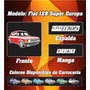 Remera Fiat 128 Super Europa,100% Alg. Ac Estampas Reforzada