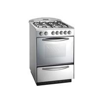 Cocina Domec 60cm Multigas Luz Encendido Spiedo Reflex Acero