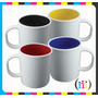 Taza Para Sublimacion Plastica Interior Color Polimero
