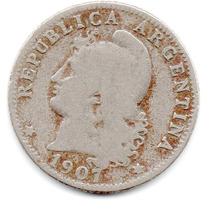 Moneda Argentina Muy Antigua 20 Ctvs.1907.hermosa.muy Escasa