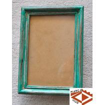 Portarretratos Para Pared 10x15 Cm Marco Verde Gastado