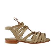 Sandalias Bajas Chatitas En Cuero Franciscanas Zapatos Tiras