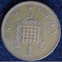 Inglaterra , One New Penny Año 1971............... Blamanan