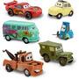 Auto Cars Rayo Mcqueen Pit Crew 6u Original Disney Store
