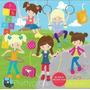 Kit Imprimible Juegos Plaza Nena Imagenes Clipart