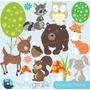 Kit Imprimible Animales Del Bosque 2 Imagenes Clipart