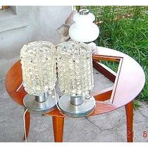Veladores 2vidrio Globos Diseño Retro Vintage Hay D Todo Asì