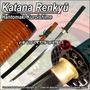Katana Samurai Kensei Renkyu Acero Carbono 1095 Filo Extremo