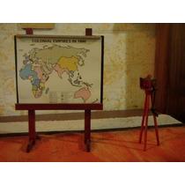 Pizarra Mapa Casa De Muñecas De Porcelana