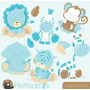 Kit Imprimible Animalitos Bebes 5 Imagenes Clipart