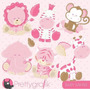 Kit Imprimible Animalitos Bebes 6 Imagenes Clipart