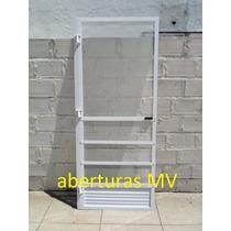 Puerta Mosquitero De Aluminio Blanca 80 X 200