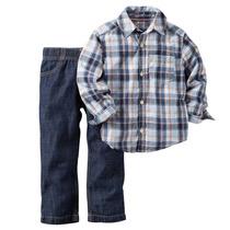 Conjunto Carter´s Jeans Y Camisa A Cuadros Original Usa