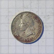 Republica Dominicana 5 Centavos Plata 1963