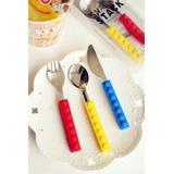Cubiertos Cuchillo Tenedor Cuchara Diseño Lego Original