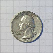 Estados Unidos ¼ Dólar Plata 1963 Muy Linda