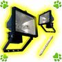 Proyector Reflector Exterior 500w Farol + Lampara Cuarzo