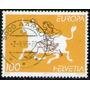 Suiza Sello Usado Europa = Zeus Secuestrando A Europa 1995