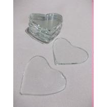 50u .corazones Vidrio 3x3cm Vitrofusion Laca Vitral Souvenir