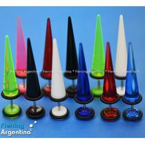 Piercing Cuerno Expansor Color. Perno 1.2mm (fino Normal)