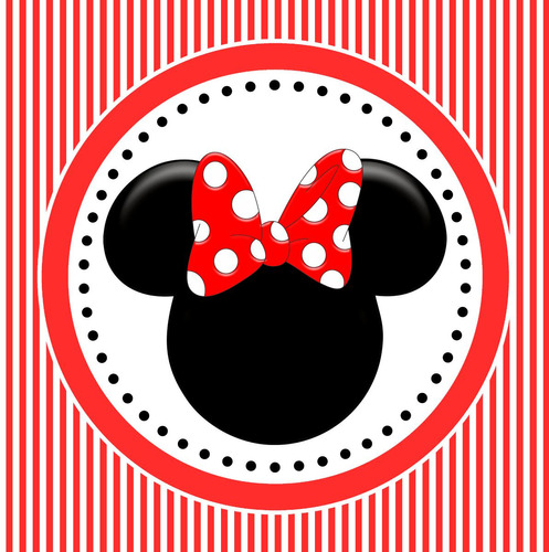 Decoracion Minnie Roja ~ Kit Imprimible Minnie Roja Candy Bar Invitaciones Decoracion (Otros) a